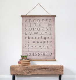 Canvas & Wood Alphabet Scroll