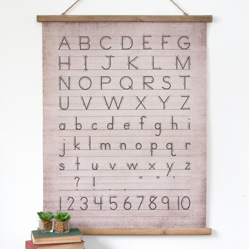 CAnvas & Wood Alphabet Scroll