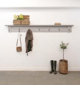 Salvaged Wooden Coat Rack + Shelf