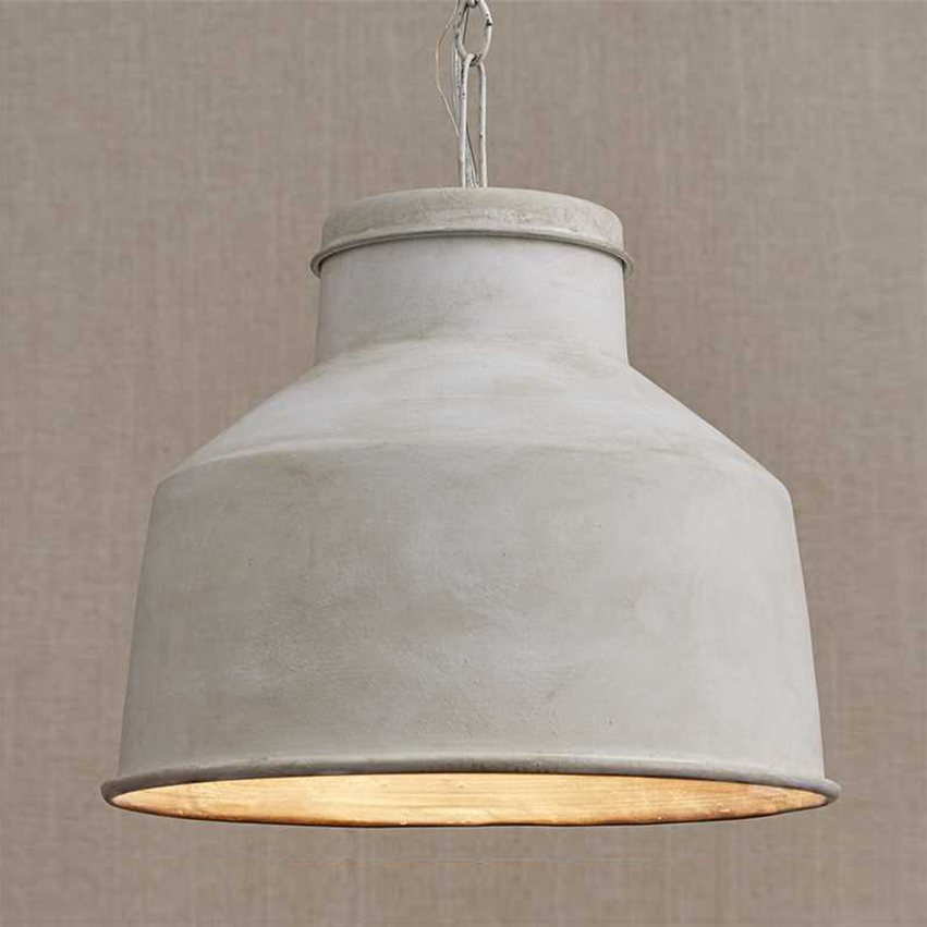 Painted Metal Pendant Light