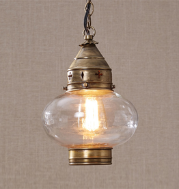 Brass Onion Pendant Light