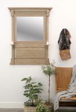 Antique Wood Framed Mirror