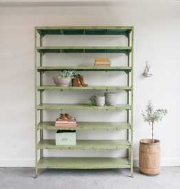 Vintage Metal Locker Shelves
