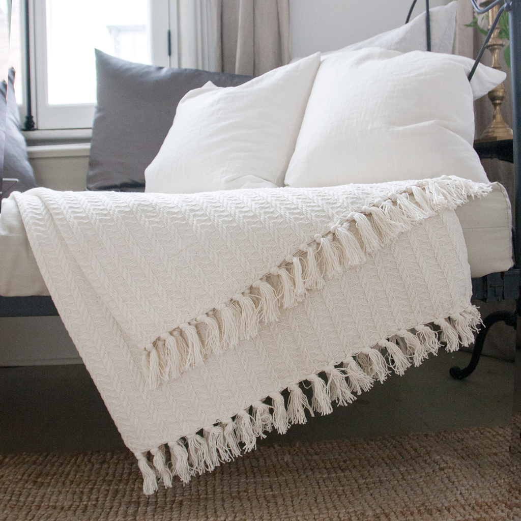 Cotton Cable Throw
