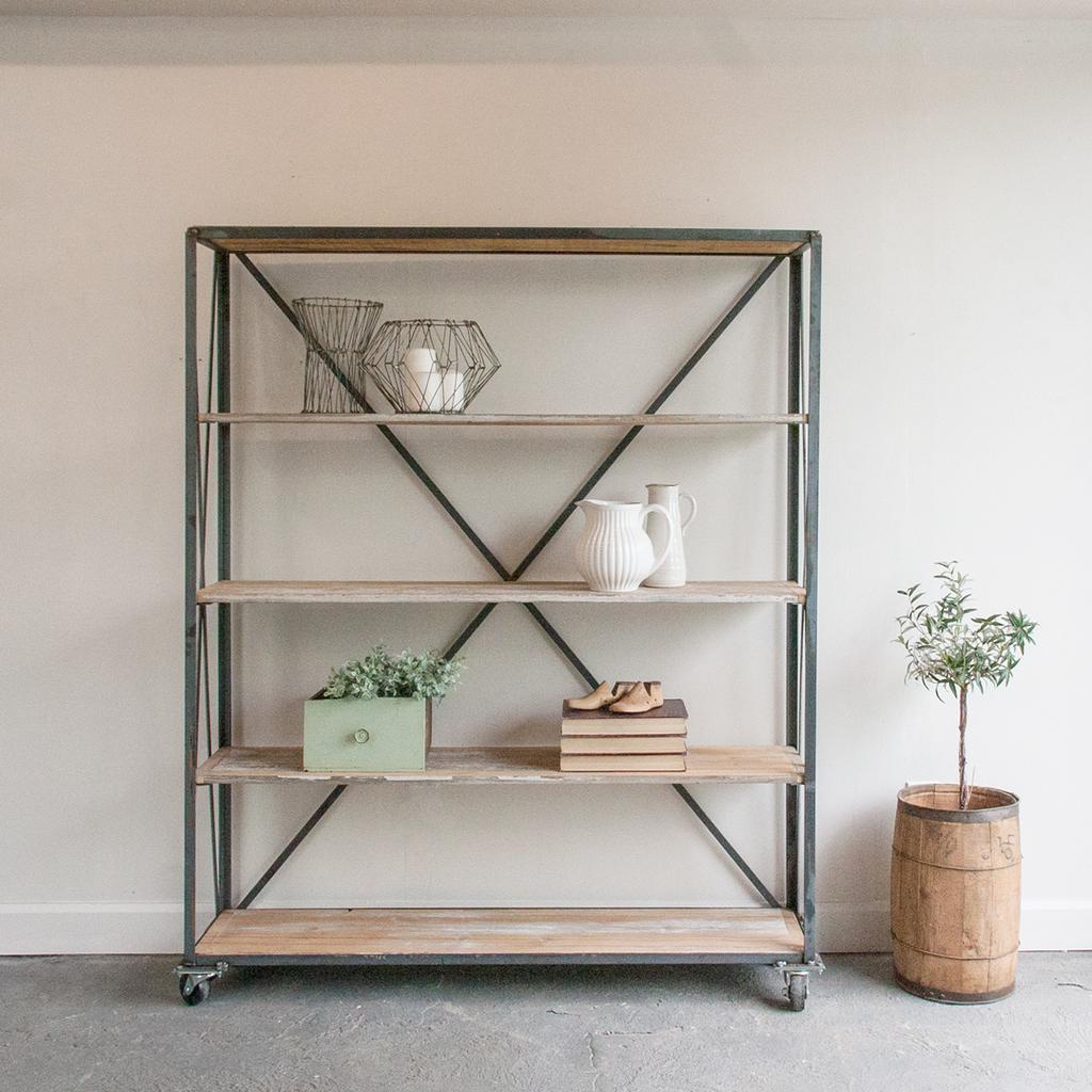 Steel & Wood Shelf Unit