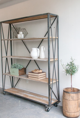 Steel & Wood Shelf Unit