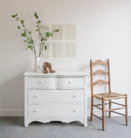 Painted Curved Drawer Dresser
