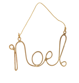 Gold Noel Ornament