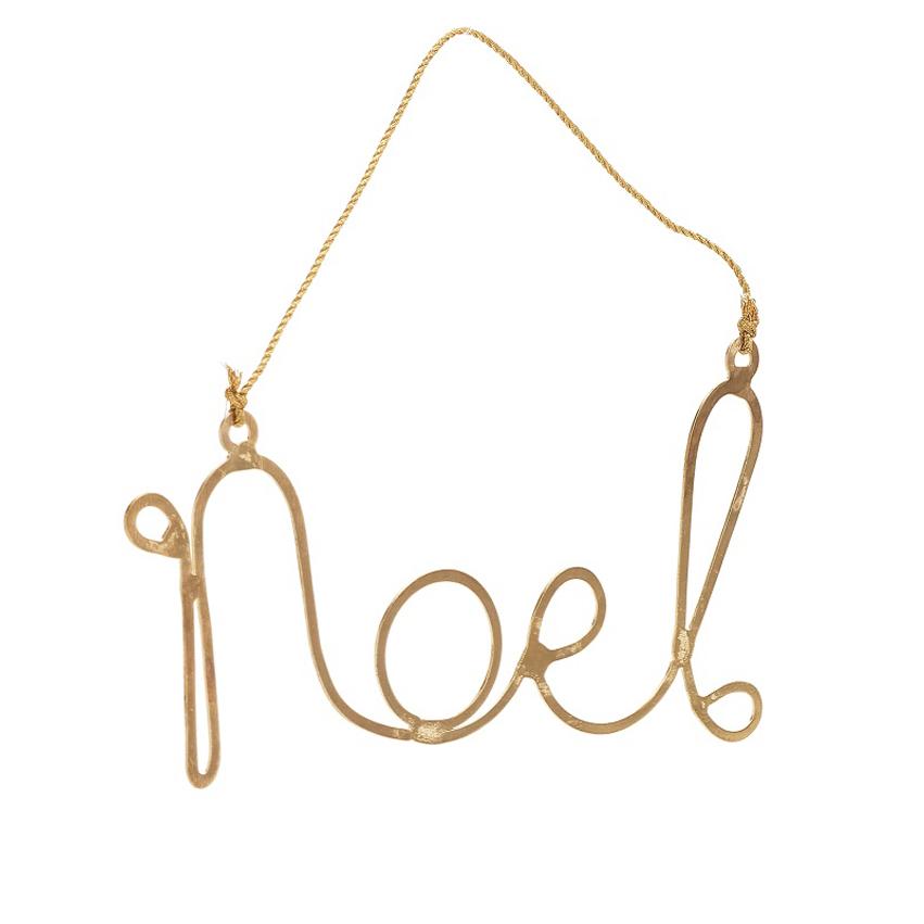 Gold Noel Ornament