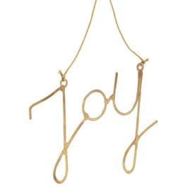Gold Joy Ornament