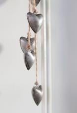 Tin Tassel Hearts