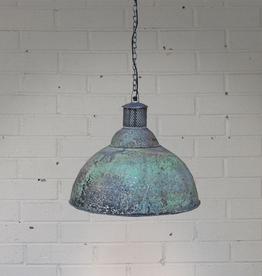 Distressed Green Metal Pendant Light - Large