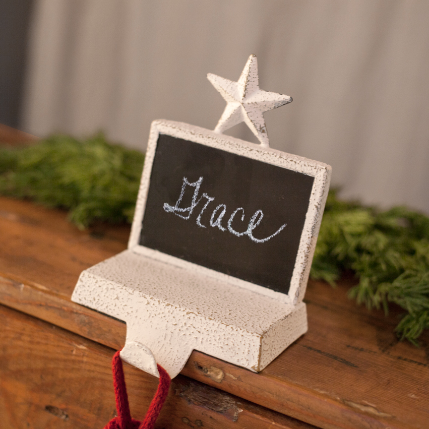 Chalkboard Stocking Holder