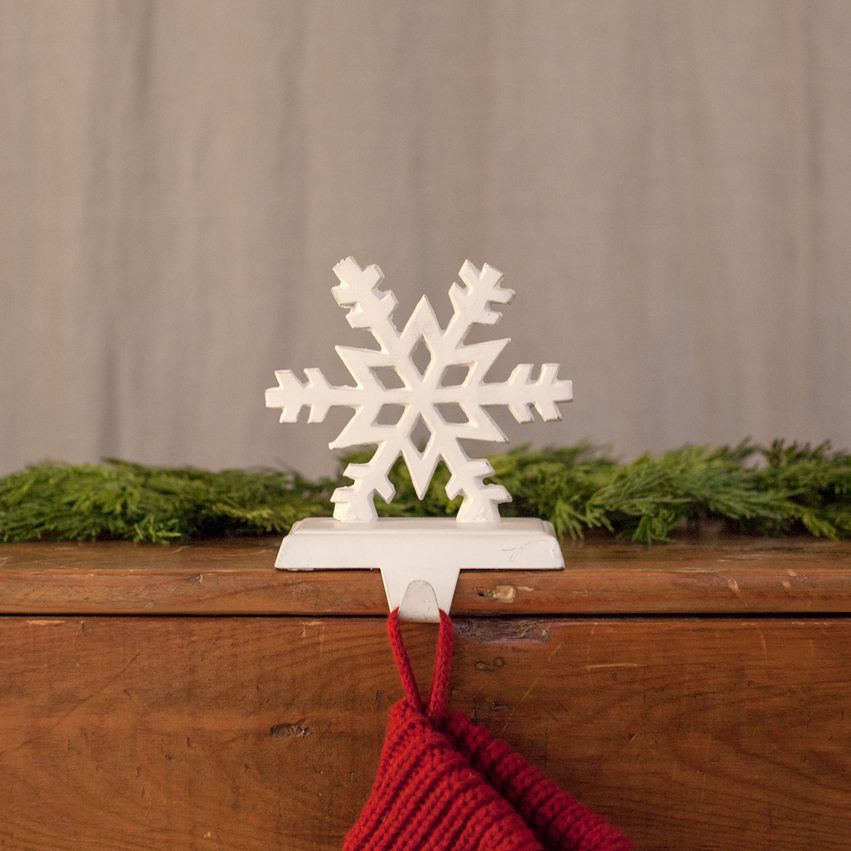 Cast Iron Snowflake Stocking Holder