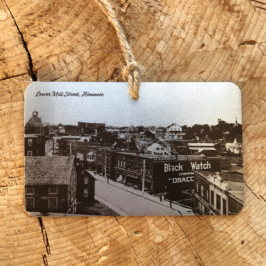 "Historical Almonte ""Tin Type"" Ornament - various images"