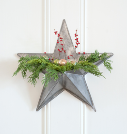 Galvanized Star Wall Pocket