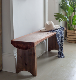 Handmade Rustic Wood Slab Bench