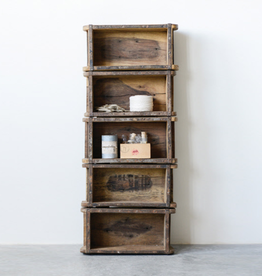 Wooden Brick Mold Shelf