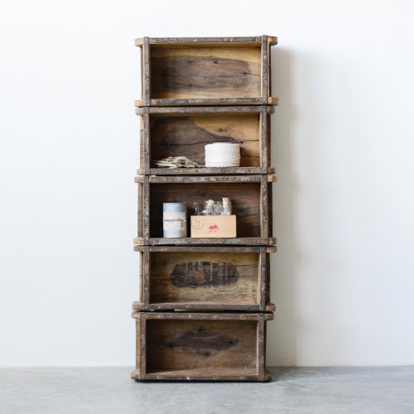 Wooden Brick Mold Shelf