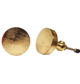 Round Button Knob - Brass Finish