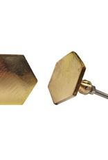 Hexagon Knob - Brass Finish