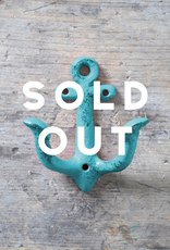 Cast Iron Anchor Hook – Turquoise
