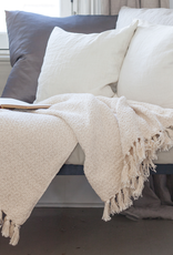 Double Weave Cotton Throw - Natural