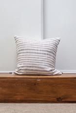 Cotton Weave Cushion - Slate + Ivory