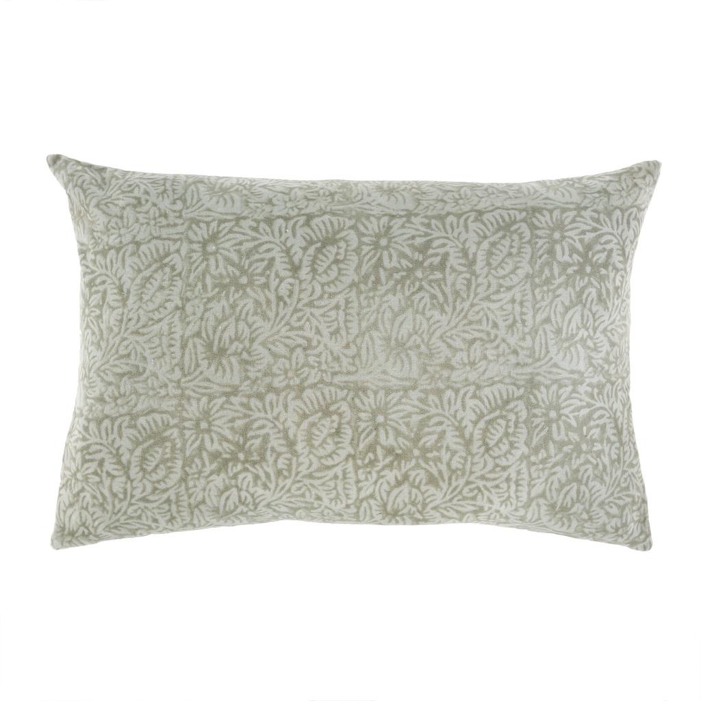 Velvet Pillow - Mint Floral