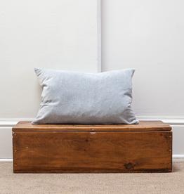 Velvet Pillow - Stonewashed Slate