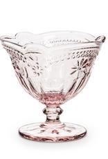 Pink Glass Pedestal Dish