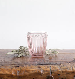 Pink Glass Tumbler - Dot + Panel