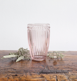 Pink Glass Highball - Dot + Panel