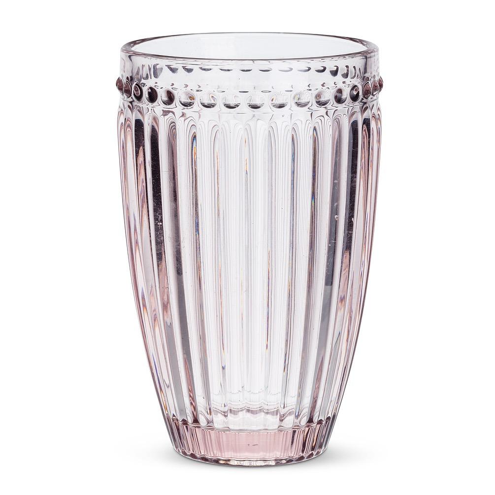 Pink Glass Highball - Dot + Panel