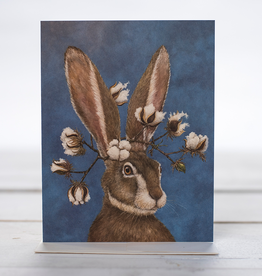 Card - Bunny With Cotton