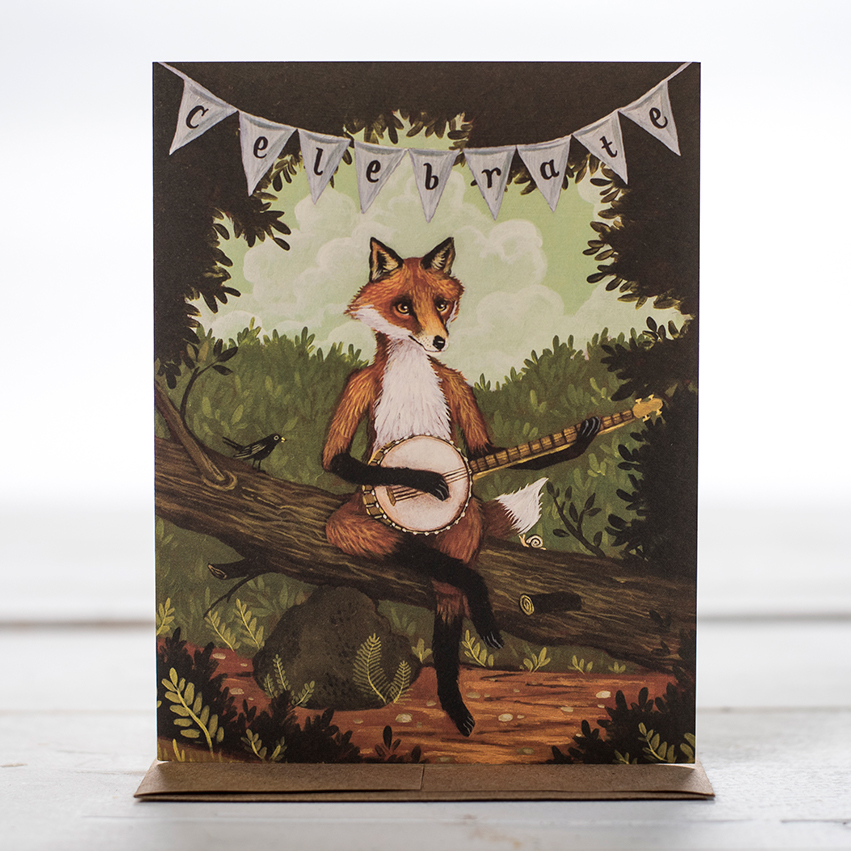 Card: The Fox + The Banjo