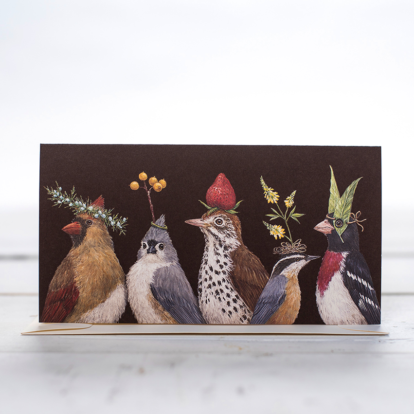Card - Party At The Feeder