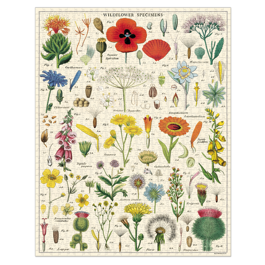 Vintage Inspired Puzzle - Wildflowers