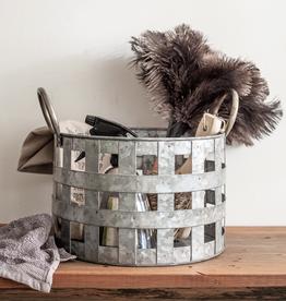 Metal Open Weave Basket
