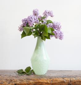 Jadeite Look Hobnail Vase