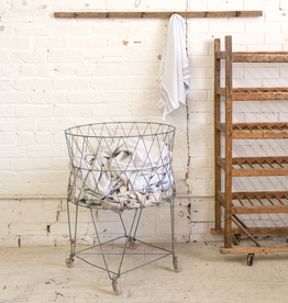 Vintage Wire Laundry Hamper