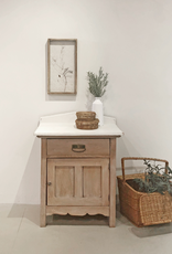 White Washed Antique Wash Stand