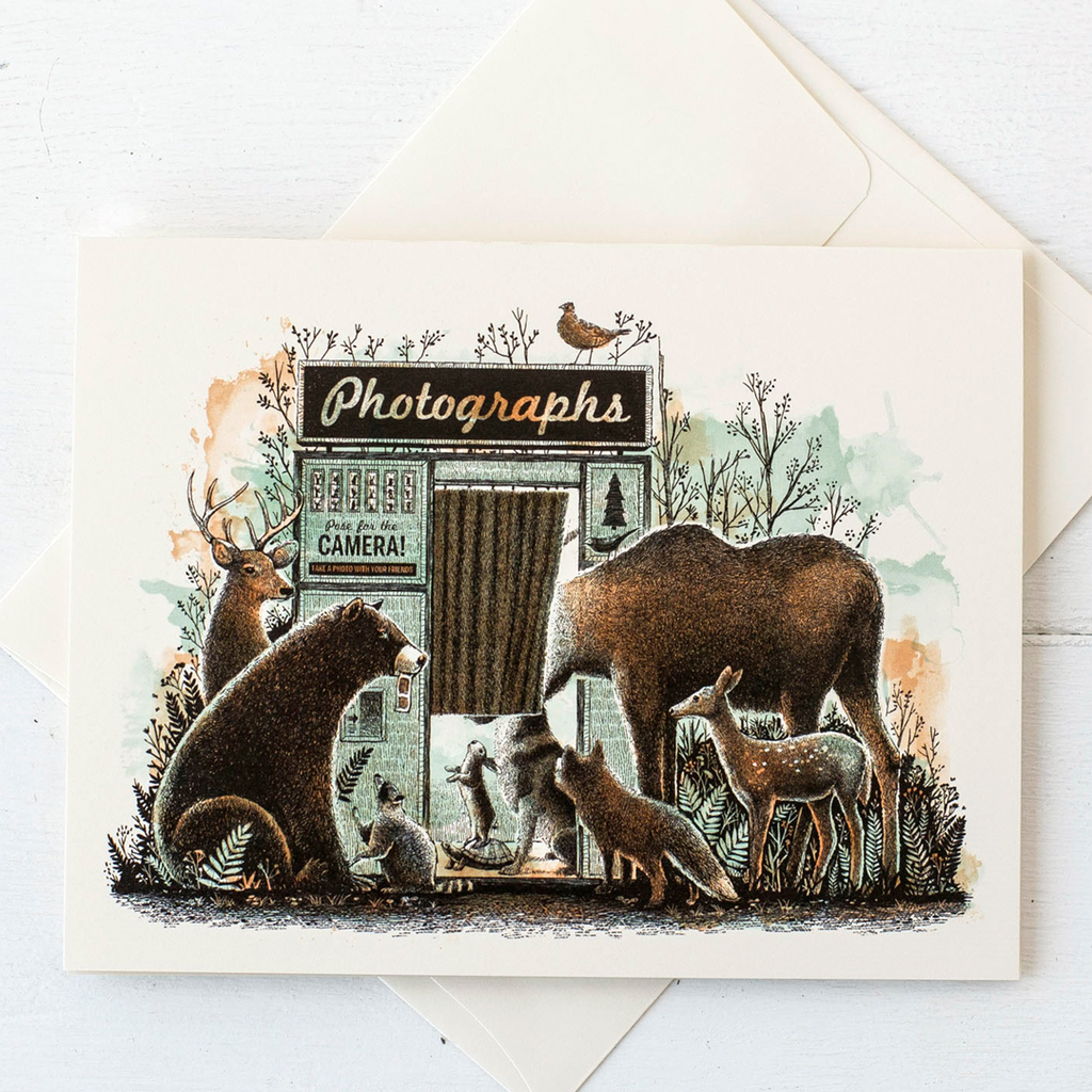 Card - Animals At The Photobooth