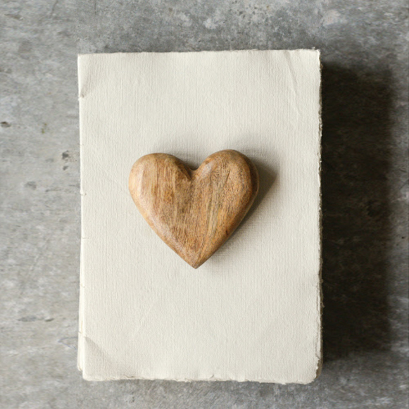 Hand Carved Mango Wood Heart