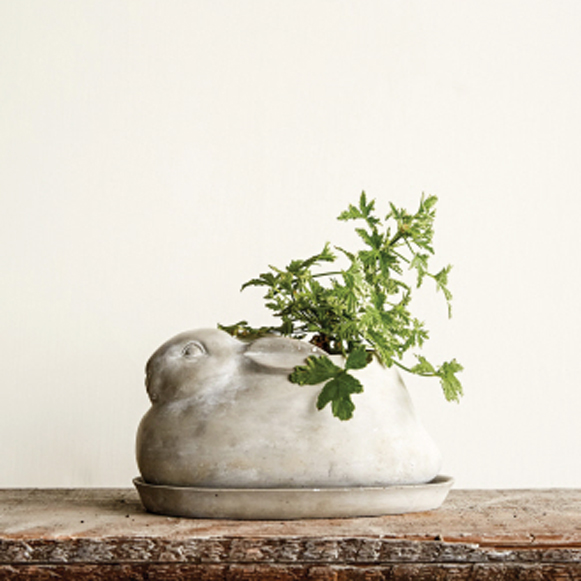 Cement Rabbit planter