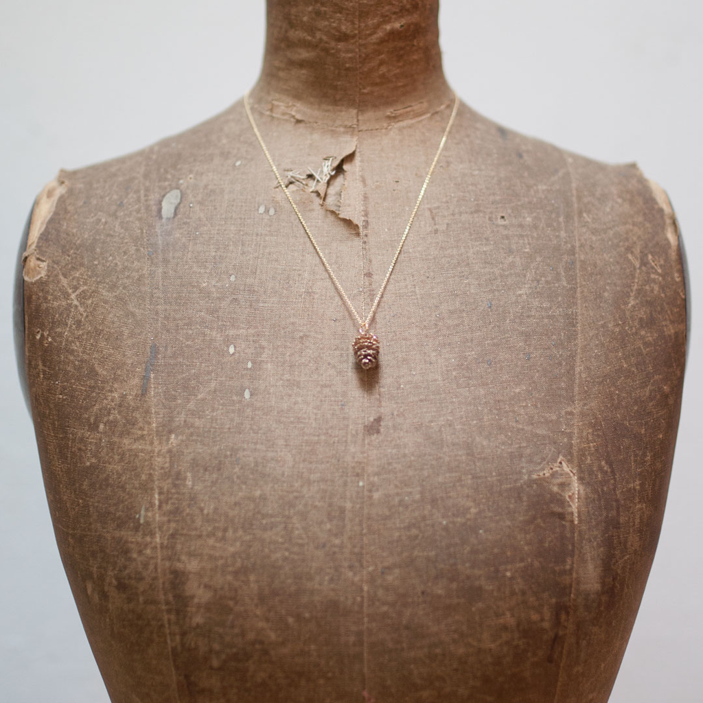 Alder Cone Pendant - Bronze