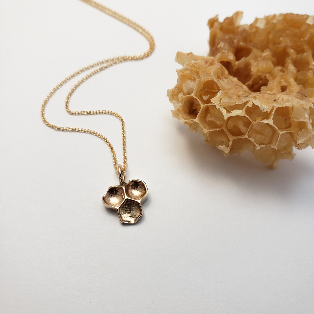 Honeycomb Pendant - Bronze