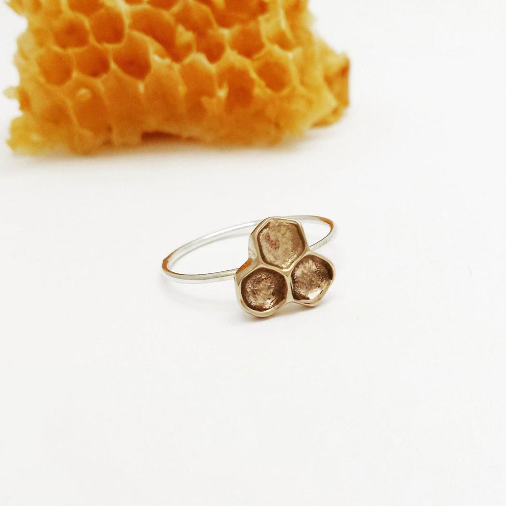 Honeycomb Ring - Bronze