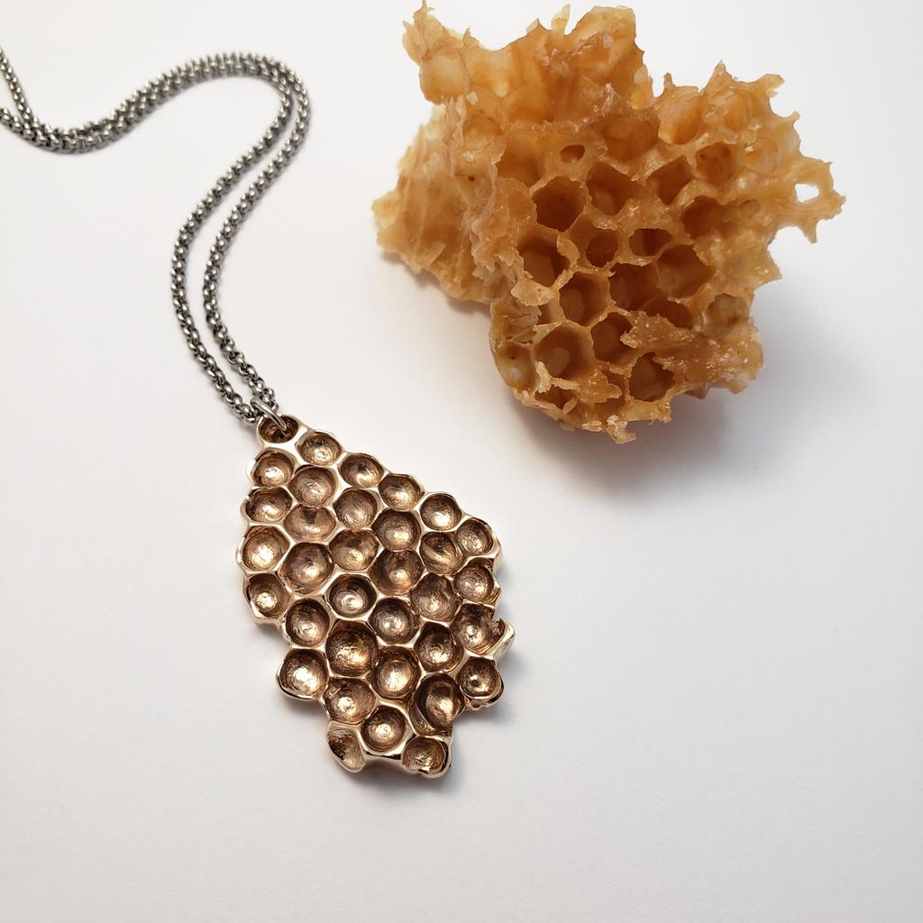 Beehive Pendant - Bronze