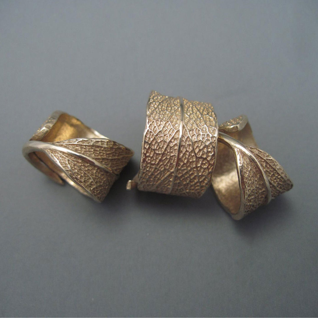 Cast Sage Leaf Ring - Bronze